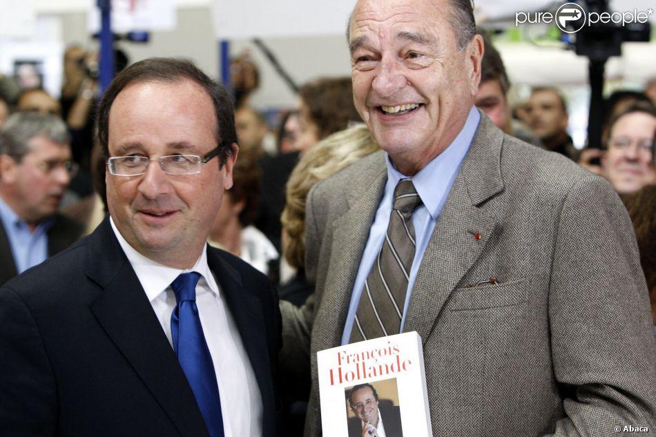 Fran ois hollande et jacques chirac se retrouvent au salon - Salon du livre de brive ...
