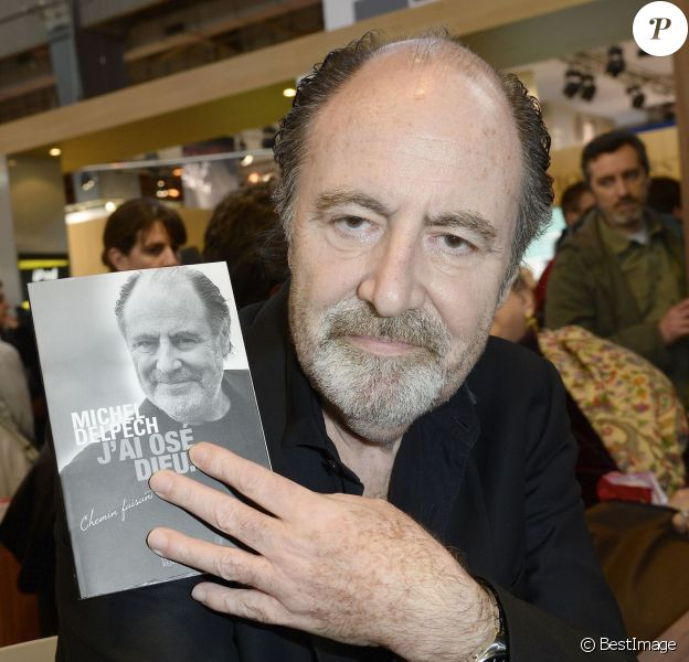Michel Delpech à la 34e édition du Salon du Livre à Paris, Porte de Versailles, le 22 mars 2014.