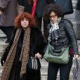 Régine Deforges et sa fille Camille Deforges-Pauvert à Paris. Le 6 février 2014.