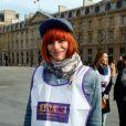 """Fauve Hautot - 1ère édition des Journées Nationales Contre la Leucémie à Paris, coordonnée par les associations """"Laurette Fugain"""" et """"Cent Pour Sang la Vie"""", le 29 mars 2014."""