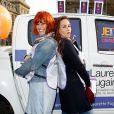 """Fauve Hautot, Vanessa Demouy - 1ère édition des Journées Nationales Contre la Leucémie à Paris, coordonnée par les associations """"Laurette Fugain"""" et """"Cent Pour Sang la Vie"""", le 29 mars 2014."""