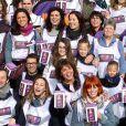 """Vanessa Demouy, Stéphanie Fugain, Fauve Hautot - 1ère édition des Journées Nationales Contre la Leucémie à Paris, coordonnée par les associations """"Laurette Fugain"""" et """"Cent Pour Sang la Vie"""", le 29 mars 2014."""