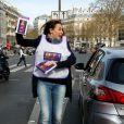 """Vanessa Demouy - 1ère édition des Journées Nationales Contre la Leucémie à Paris, coordonnée par les associations """"Laurette Fugain"""" et """"Cent Pour Sang la Vie"""", le 29 mars 2014."""