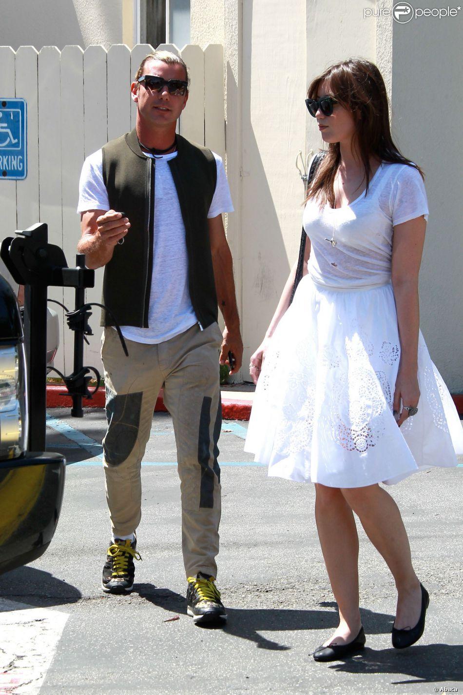 Gavin Rossdale et sa fille Daisy Lowe dans les rues de West Hollywood, le 9 avril 2014.