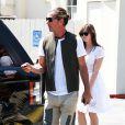Gavin Rossdale déjeune avec sa fille Daisy Lowe au Café Med à West Hollywood, le 9 avril 2014.