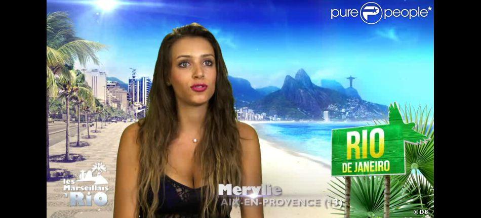 """Merylie dans la télé-réalité """"Les Marseillais à Rio"""" sur W9."""