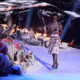 Lupita Nyong'o sur scène lors des MTV Movie Awards 2014 au Nokia Theatre L.A. Live. Los Angeles, le 13 avril 2014.