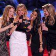 Leslie Mann, Cameron Diaz, Nicki Minaj et Kate Upton lors des MTV Movie Awards 2014 au Nokia Theatre L.A. Live. Los Angeles, le 13 avril 2014.