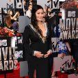 La star de télé-réalité JWoww, enceinte, assiste aux MTV Movie Awards 2014 au Nokia Theatre L.A. Live. Los Angeles, le 13 avril 2014.