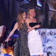 Leslie Mann et Cameron Diaz sur scène lors des MTV Movie Awards 2014 au Nokia Theatre L.A. Live. Los Angeles, le 13 avril 2014.