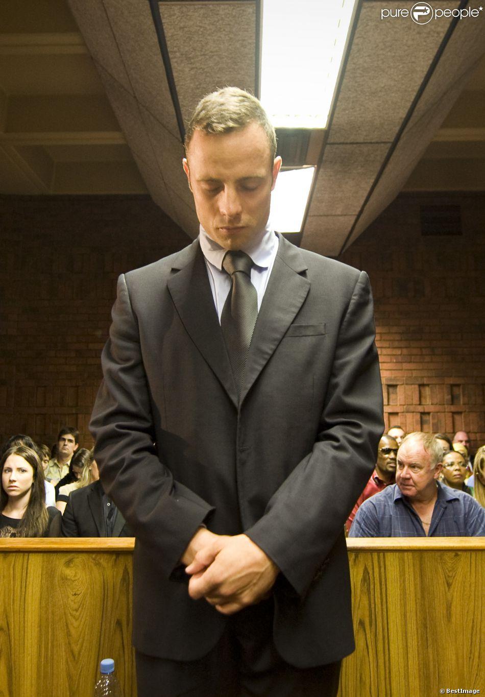 L'athlète Oscar Pistorius lors de son procès à Pretoria, le 21 février 2014.