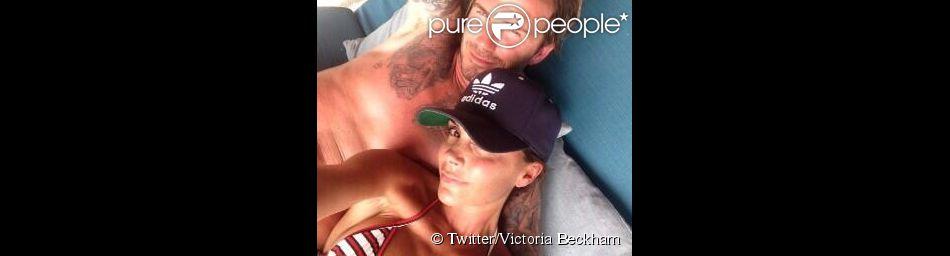 Victoria Beckham a passé sa journée d'anniversaire au côté de ses siens et notamment de son footballeur de mari, David Beckham. Le 17 avril 2014.