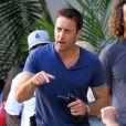 """Exclusif - Alex O'Loughlin, Scott Caan et William Baldwin sur le tournage de """"Hawaii Five-O"""" à Hawaii, le 5 décembre 2012."""