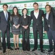 Roger Federer, Anne Elisabeth de Massy, Melanie de Massy, David Ferrer, Stanislas Wawrinka lors du Grand Gala du Tennis à Monaco le 18 avril 2014.