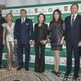 Prince Philippe Philippe d'Orleans, Charles et Camilla de Bourbon-Siciles, Elisabeth-Anne de Massy, Mélanie de Massy, Konstantin et Maria de Bulgarie lors du Grand Gala du Tennis à Monaco le 18 avril 2014.