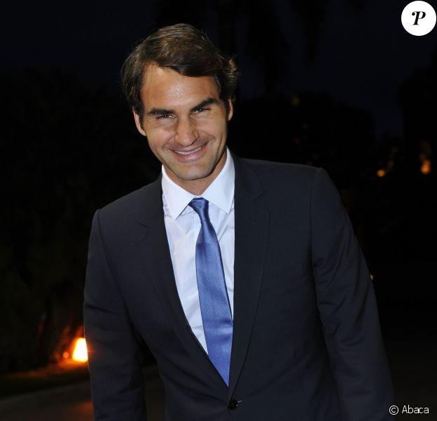 Roger Federer lors du Grand Gala du Tennis à Monaco le 18 avril 2014.