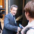 Carla Bruni a été accompagnée à son concert new-yorkais, donné sur la scène de The Town Hall, par son mari Nicolas Sarkozy et le fils de celui-ci, Louis Sarkozy, le 24 avril 2014.