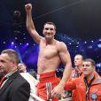 Vladimir Klitschko après sa victoire face à Alex Leapai à Oberhausen, le 26 avril 2014 lors du championnat du monde des lourds