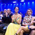 Natalia Klitschko, la femme de Vitali Klitschko et Hayden Panettiere assistent au championnat du monde des lourds entre Vladimir Klitschko et Alex Leapai à Oberhausen, le 26 avril 2014