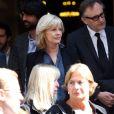 Elisa Servier lors des obsèques du réalisateur Michel Lang en l'église Notre-Dame de Grâce de Passy à Paris le 29 avril 2014