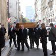 Les obsèques du réalisateur Michel Lang en l'église Notre-Dame de Grâce de Passy à Paris le 29 avril 2014
