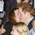 Cressida Bonas avec le prince Harry à Wembley le 7 mars 2014 pour le We Day organisé par l'association Free the Children. Ils se sont séparés en avril 2014 après un peu moins de deux ans de relation.