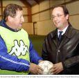 Guy Roux et François Hollande en 2001