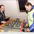 François Hollande rencontre Guy Roux dans l'Yonne en 2001