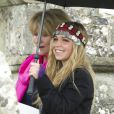 Ayesha, fille de Mark Shand et de son ex-épouse l'actrice Clio Goldsmith, aux obsèques de son père, frère de Camilla Parker Bowles, à Stourpaine dans le Dorset (Angleterre) le 1er mai 2014. Fervent amoureux de la nature et des éléphants, fondateur de The Elephant Family, Mark Shand est mort à 62 ans le 23 avril 2014, victime d'une mauvaise chute à New York.