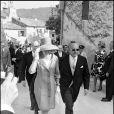 La princesse Grace et le prince Rainier lors du mariage du duc d'Orléans à Ansouis en 1969