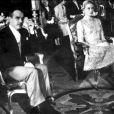 Le prince Rainier et Grace lors de leur mariage civil à Monaco le 18 avril 1956