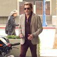 Johnny Hallyday à West Hollywood. Le 17 avril 2014.