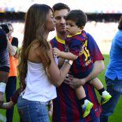 Lionel Messi : Réuni avec Antonella, radieuse, et Thiago pour une fête au stade