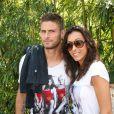 Olivier Giroud et son épouse Jennifer le 2 juin 2012 à Roland-Garros lors des Internationaux de France