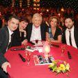 """Exclusif - Laurent Luyat, Roselyne Bachelot, Patrick Sébastien, Corinne Touzet et Arthur Jugnot dans l'émission """"Le plus grand cabaret du monde"""" le 29 avril 2014."""