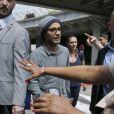 Gael Garcia Bernal arrive à Nice, le 13 mai 2014.