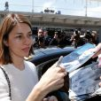 Sofia Coppola est arrivée (avec ses deux filles Romy Mars et Cosima Mars) à Nice, le 13 mai 2014.