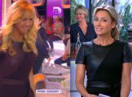 Enora Malagré, Anne-Sophie Lapix : Combat de look en robe en cuir sexy !