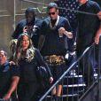 French Montana quitte le Penthouse avec sa supposée petite amie Khloé Kardashian et son ami Spiff. West Hollywood, le 13 mai 2014.