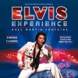 """Martin Fontaine sur l'affiche du spectacle """"Elvis Experience"""" à Paris au Palais des Sports du 30 décembre 2014 au 3 janvier 2015."""
