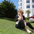 Exclusif - Nicole Garcia  devant l'hôtel Majestic Barrière à l'occasion du 67e Festival du film de Cannes à Cannes le 15 mai 2014