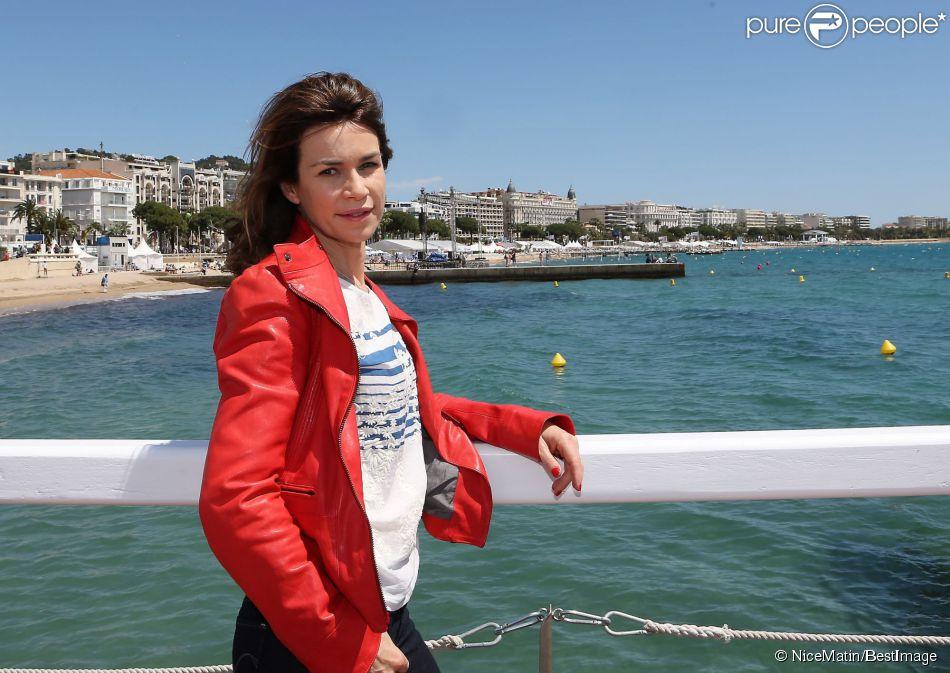 Exclusif - Valérie Kaprisky devant l'hôtel Majestic Barrière à l'occasion du 67e Festival du film de Cannes à Cannes le 15 mai 2014