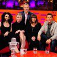 Conchita Wurst sur le plateau du Graham Norton Show à Londres avec Kirsten Dunst, Dawn French et Bear Grylls, le 15 mai 2014.