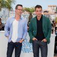 """Guy Pearce et Robert Pattinson - Photocall du film """"The Rover"""" lors du 67e Festival international du film de Cannes, le 18 mai 2014"""
