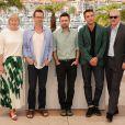 "Robert Pattinson, Guy Pearce, David Michôd, David Linde, Liz Watts - Photocall du film ""The Rover"" lors du 67e Festival international du film de Cannes, le 18 mai 2014"