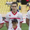 Louis Ducruet lors du World Stars Football Match entre la Star Team Monte Carlo et la F1 Driver Team, au stade Louis II de Monaco, le 20 mai 2014