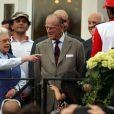 Le duc d'Edimbourg, époux de la reine Elizabeth II, lors du Royal Windsor Horse Show le 16 mai 2014