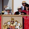 Le duc d'Edimbourg avec la reine Elizabeth II au Royal Windsor Horse Show le 18 mai 2014