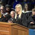 Elin Nordegren lors de son discours durant la cérémonie de remise des diplômes de Rollins College, le 10 mai 2014
