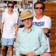 Woody Allen sur le port de Saint-Tropez le 28 juillet 2013